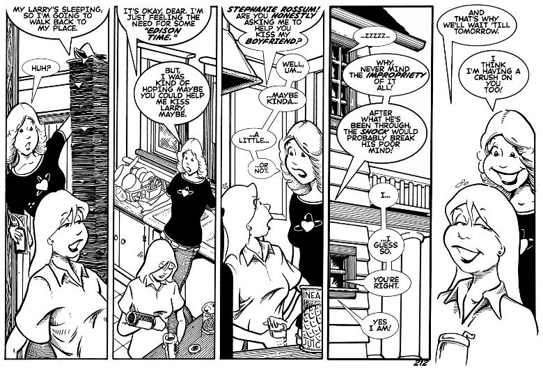 Larry has a lot of comics.
